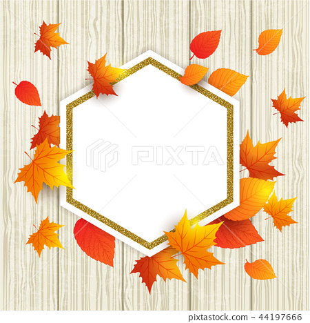 Abstract autumn frame with leaves 44197666