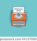 typewriter, retro, 2019 44197686