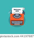 typewriter, retro, 2019 44197687