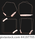 Set of geometric pink gold frame 44197705