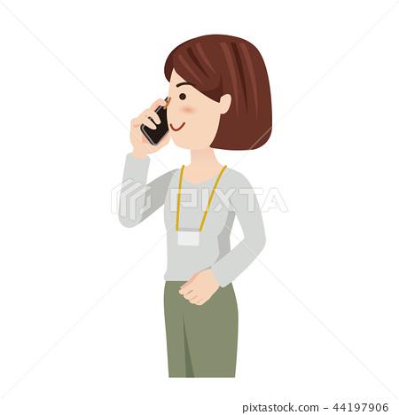 女商人偶然女商人智能手机 44197906