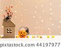 Halloween pumpkin with spider 44197977