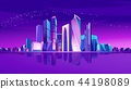 Moscow city neon 44198089
