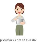 비즈니스 여성 캐주얼 오피스 캐주얼 태블릿 44198387