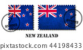 New zealand flag pattern postage stamp 44198433