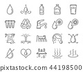Water icon set. 44198500