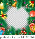 christmas, frame, fir 44198764