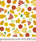 Abstract autumn floral pattern background, vector 44199228