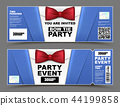 Vector horizontal cocktail party event invitations 44199858
