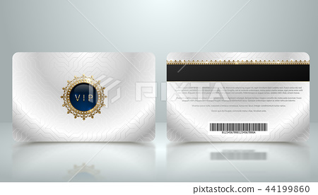 Vector membership loyalty silver metallic VIP card 44199860