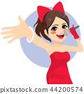 Cute Singer Girl 44200574