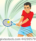 Male Tennis Player 44200579