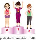 Women Athlete Podium 44200584