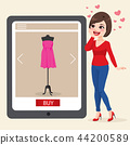 Woman Buying Online Concept 44200589