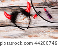 Devil horns headband and makeup accessories. 44200749