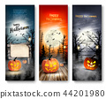 Group of Halloween banners with pumpkins  44201980