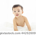 Happy asian little baby smiling 44202609