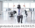 A day of young businessman in the office 160 44204325