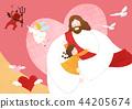 The bible school of Jesus with children vector illustration. 007 44205674
