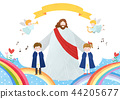 The bible school of Jesus with children vector illustration. 008 44205677