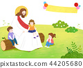 The bible school of Jesus with children vector illustration. 006 44205680