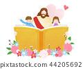 The bible school of Jesus with children vector illustration. 004 44205692