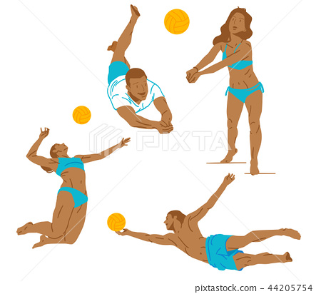 Leisure sports collection, enjoying healthy lifestyle concept flat vector illustration. on a white background. 014
