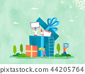 Spring and Summer season shopping event for mobile and web vector illustration design with colorful background. 010 44205764