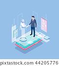 Flat isometric Smart life concept template vector illustration. 010 44205776
