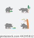 非洲 動物 犀牛 44205812