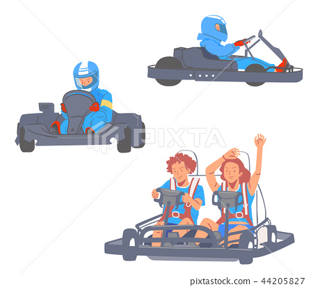 Leisure sports collection, enjoying healthy lifestyle concept flat vector illustration. on a white background. 013 44205827