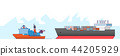 International Freight Transportation by sea, air, rail and road. all kinds of logistic vector illustration. 009 44205929
