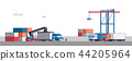 International Freight Transportation by sea, air, rail and road. all kinds of logistic vector illustration. 010 44205964