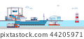 International Freight Transportation by sea, air, rail and road. all kinds of logistic vector illustration. 002 44205971