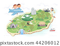 Jeju Promotion Vector Illustration 7 44206012