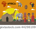 Global village concept vector illustration - Africa 44206109