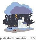 เมือง,สายฟ้า,ฝนตก 44206172