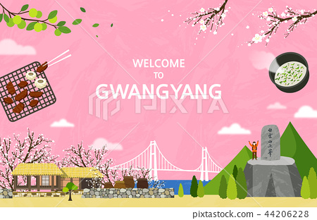 Vector illustration of Gwangyang  44206228