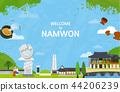 Korean Landmark - Vector 2 44206239