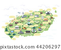 Korean Regional Map Vector Illustration 8 44206297