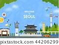 韩国 里程碑 地标 44206299