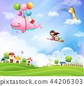 插图 背景 儿童 44206303