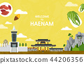 Vector illustration of Haenam  44206356