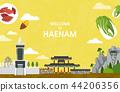 Vector illustration of Haenam  44206356