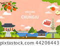 Vector illustration of Chungju  44206443