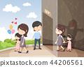 Domestic Violence Awareness Vector Illustration 4 44206561