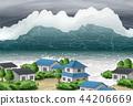 Disaster Awareness - Tsunami Awareness Vector Illustration 44206669