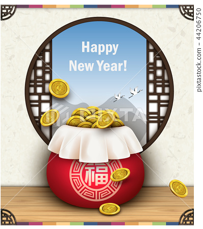 New Year Illustration 01 44206750