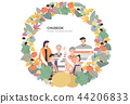 Korean Holiday Promotion Vector Illustration 01 44206833