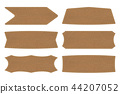 Set shapes of leather sign labels or leather  tag 44207052